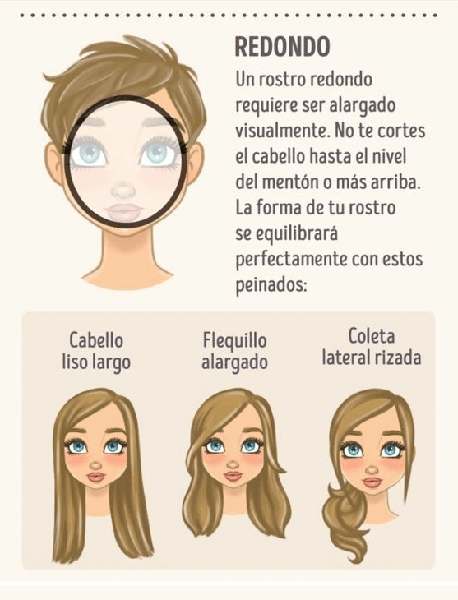 peinados para la cara redonda