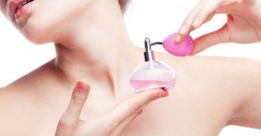 aplicar el perfume