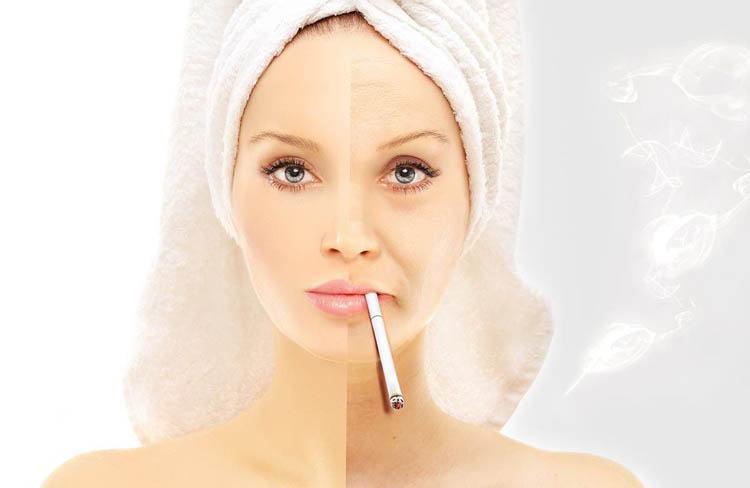 fumar perjudica la piel