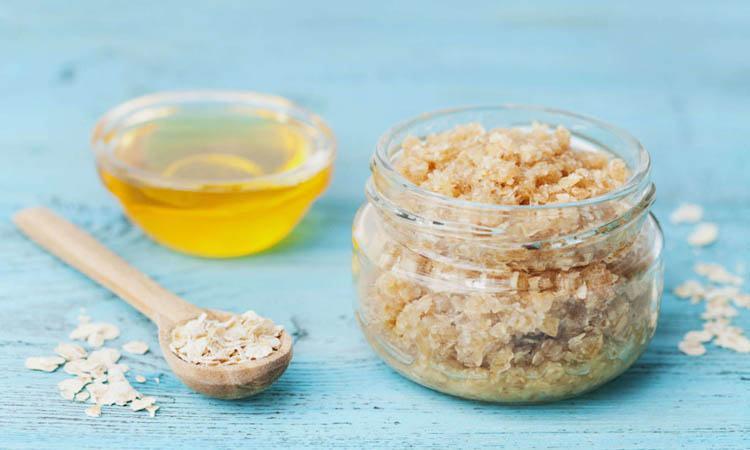 mascarilla de aceite de oliva y azúcar