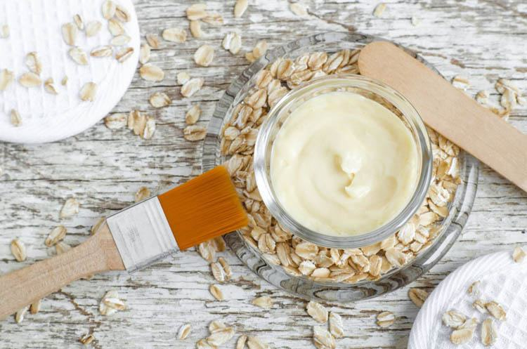 mascarilla exfoliante de yogurt y avena
