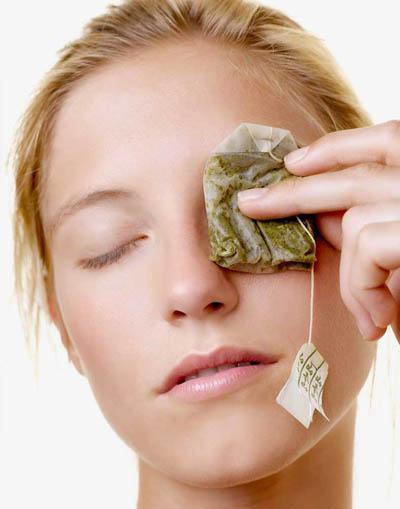 quitar las ojeras con té