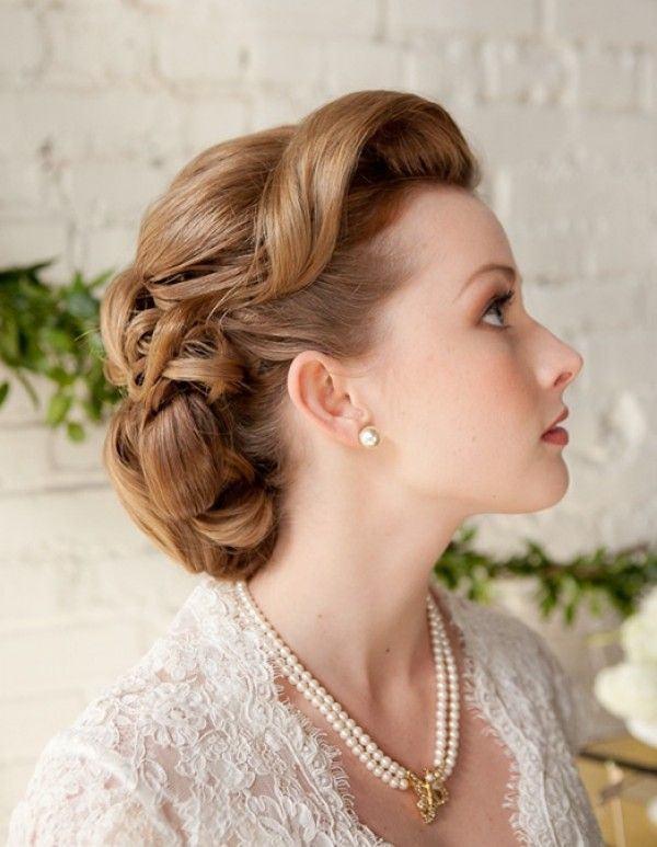 peinado de novia vintage