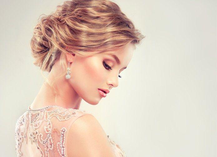 peinado de novia recogido alto
