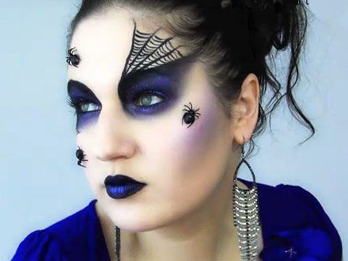maquillaje de halloween araña