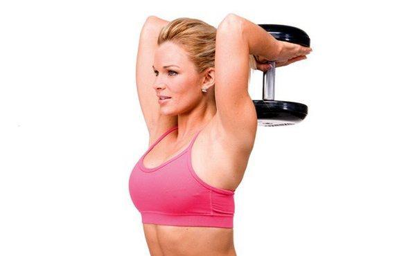 ejercicios con mancuernas para la flacidez de los brazos