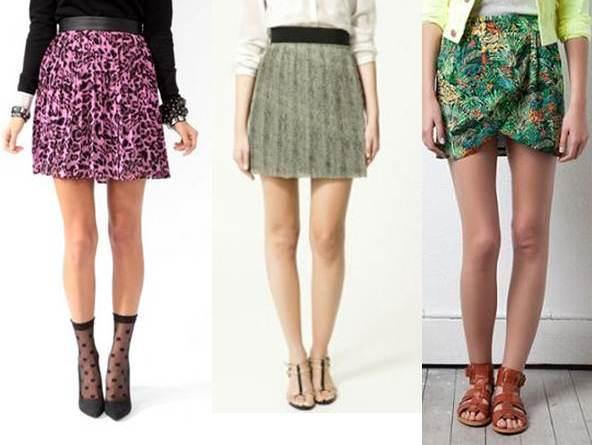 faldas para piernas delgadas