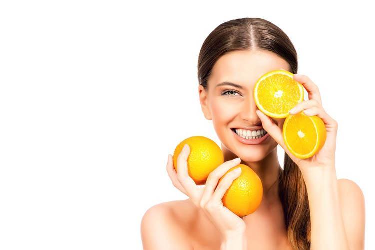 naranja para la piel grasa