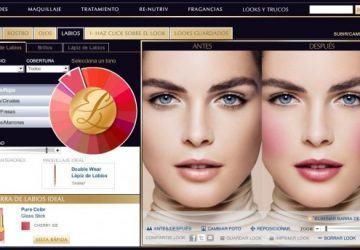 Simulador de maquillaje de Estée Lauder