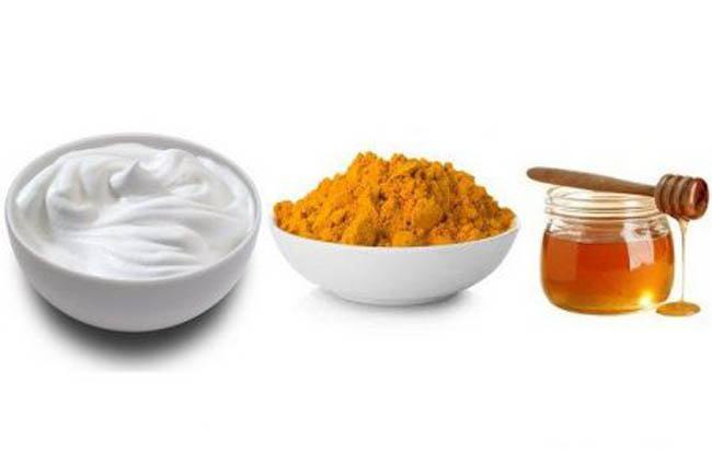 mascarilla de yogur miel y cúrcuma