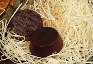 jabón casero de chocolate