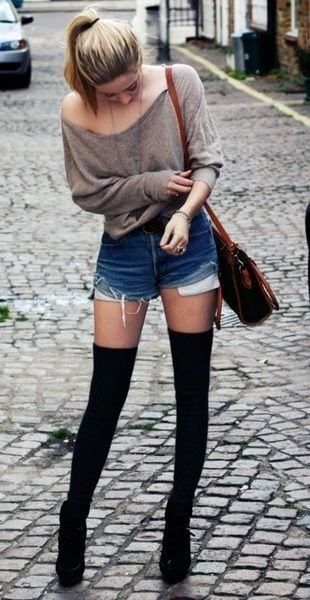 calcetines altos color negro