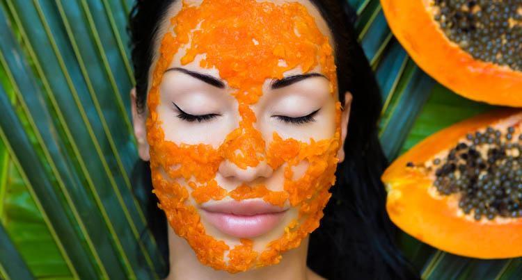 mascarilla exfoliante de papaya