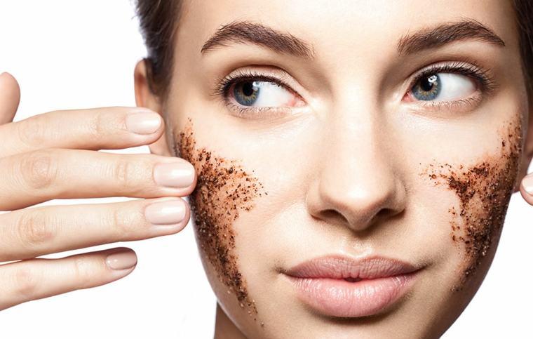 exfoliante facial con café