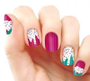 nails cupcakes