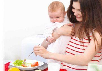 dieta después del embarazo
