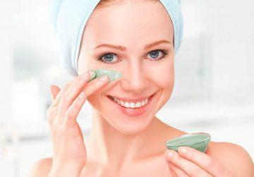 productos de belleza con arcilla verde