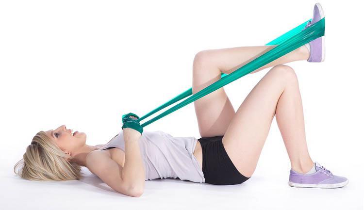 ejercicios de tonificación con banda elástica
