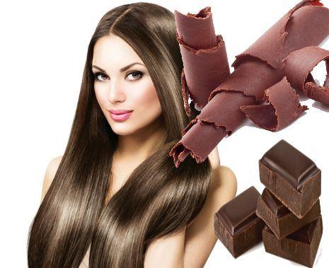 mascarilla de chocolate para el cabello castaño