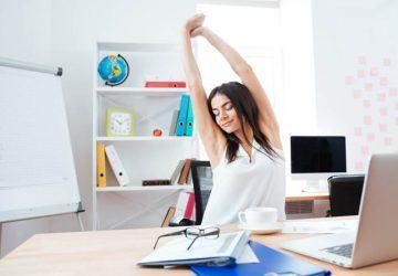 ejercicios silla oficina