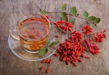 infusión antioxidante de bayas de Goji