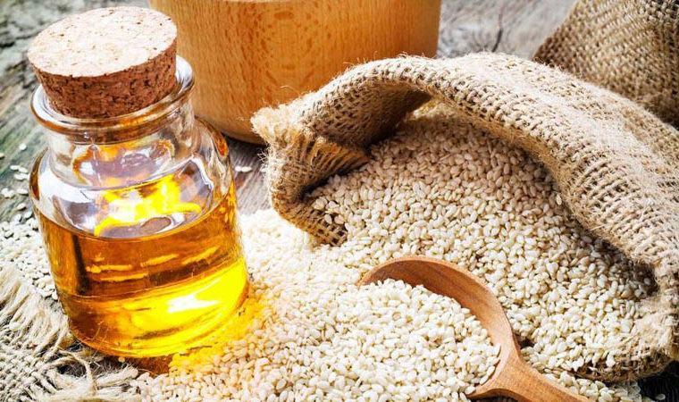 cosmética natural con aceite de sésamo