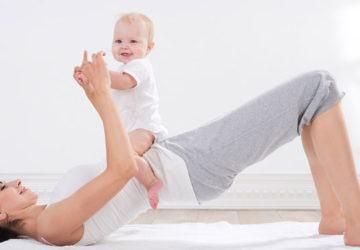 ejercicios en casa con bebé