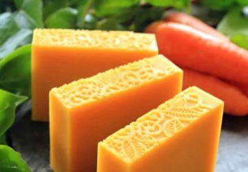 jabón casero de zanahorias