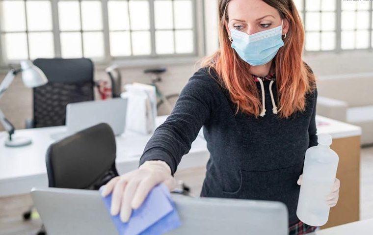 prevenir los contagios de COVID-19 en la oficina
