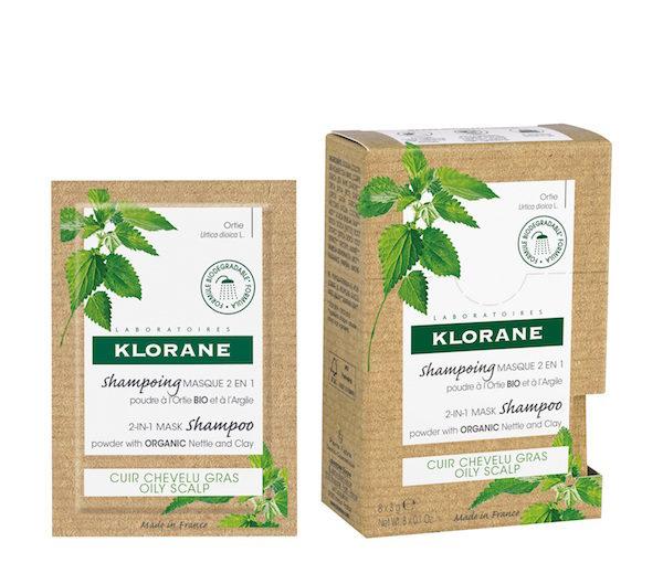 champú ortiga en polvo Klorane