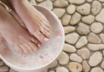 baño reconfortante pies