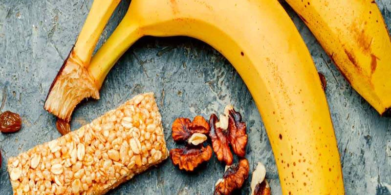 barritas energéticas con plátano